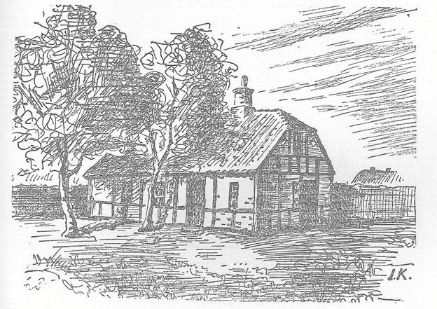 Købmand og gæstgiver Rasmus Holst byggede sin gård i 1843. Han døde dog allerede i 1846 af kolera, og hans enke solgte gården til præsteembedet i 1860. LOKALHISTORISK ARKIV SKAGEN