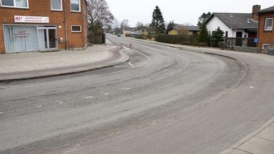Bagersvinget - kurvens krumning mindskes, og cykelbanen forlænges. Arkivfoto