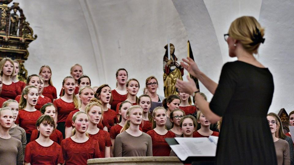 Nordjysk Pigekor giver julekoncert 3. december i Ugilt Kirke.   Foto: Bent Bach