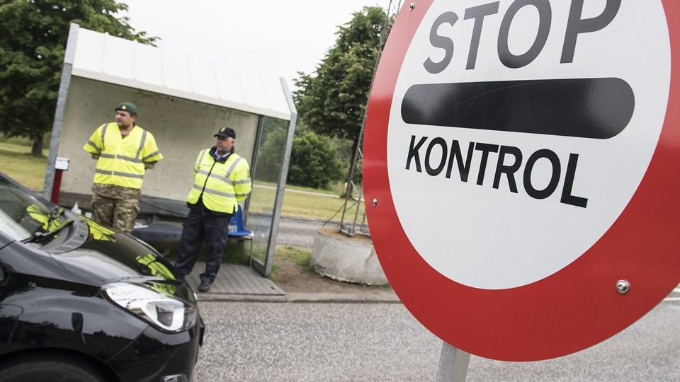 Hjemmværnet Grænsekontrol Foto: Scanpix/Claus Fisker
