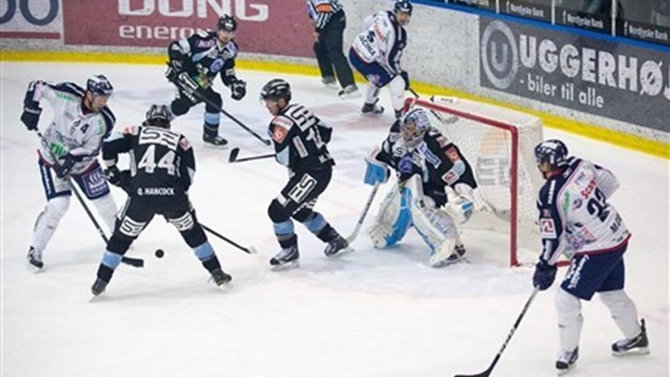 Frederikshavn White Hawks tabte igen. Lørdag var det Esbjerg, der blev den store. Arkivfoto: Peter Broen
