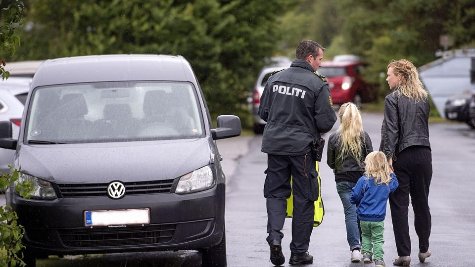 Politiet har i ugerne efter skolestart tjekket farten udenfor Nordjyllands skoler. Foto: Lars Pauli