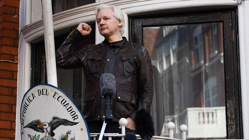 Julian Assange har siden sommeren 2012 søgt tilflugt på Ecuadors ambassade i London af frygt for at blive udleveret til USA. På intet tidspunkt har han været uden for ambassaden. Foto: Scanpix/Justin Tallis/arkiv