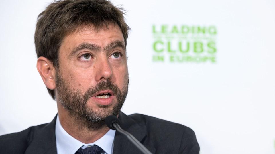 Andrea Agnelli blev for to år siden valgt som formand for klubsammenslutningen ECA, der har mere end 230 medlemmer. Italieneren er præsident i Juventus.