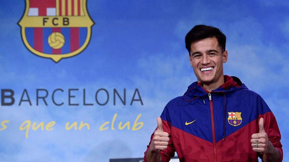 Philippe Coutinho bliver præsenteret i Barcelona mandag. Foto: Scanpix/Josep Lago