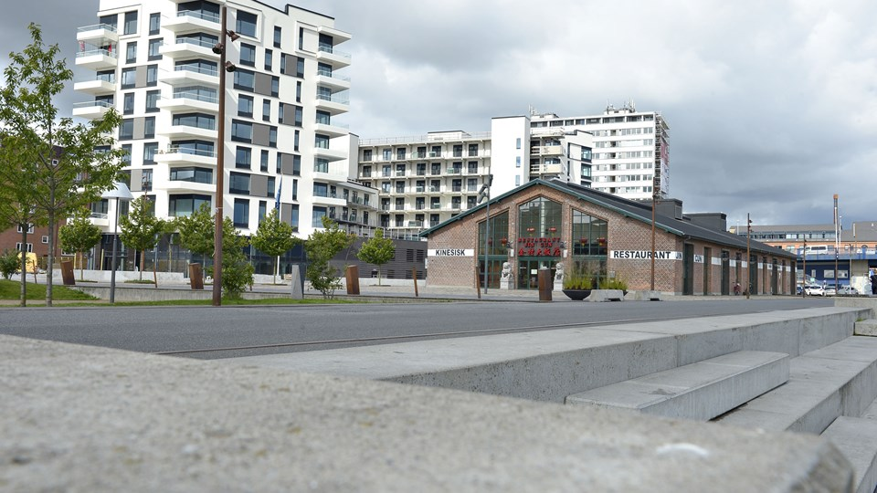 Strandvejen 3 er en fin, modernistisk afslutning på den centrale havnefront ifølge Komiteen for bygningspræmiering.Foto: Bente Poder
