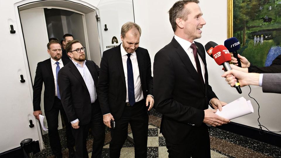 Regeringen i skikkelse af finansminister Kristian Jensen (V) og Dansk Folkeparti blev fredag enige om en finanslov for 2019.
