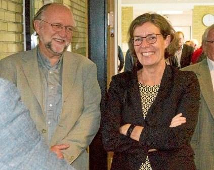 Martecs nuværende direktør Pia Ankerstjerne og den tidligere direktør Erik Møller. Privatfoto.