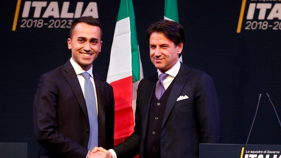 - Vi har over for republikkens præsident nævnt navnet Giuseppe Conte, siger Femstjernebevægelsens leder, Luigi Di Maio, til partiets officielle blog ifølge nyhedsbureauet AFP. Foto: Reuters/Remo Casilli