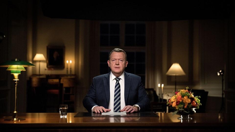 Statsminister Lars Løkke Rasmussen (V) holdt sin årlige nytårstale mandag, hvor fokus var på ghettoer. Foto: /ritzau/Finn Frandsen