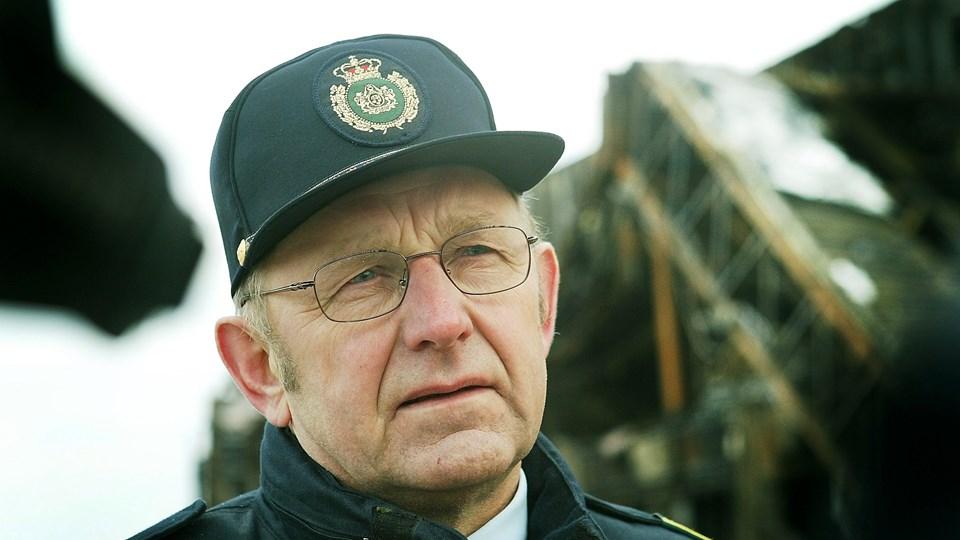 Ole Thomsen ved Nordsømuseet i 2003 efter branden. Arkivfoto: Bent Bach