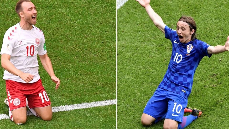 Det er to af de bedste midtbanespillere i verden, som mødes søndag aften ved VM. Foto: Emmanuel Dunand, Philippe Lopez/Ritzau Scanpix