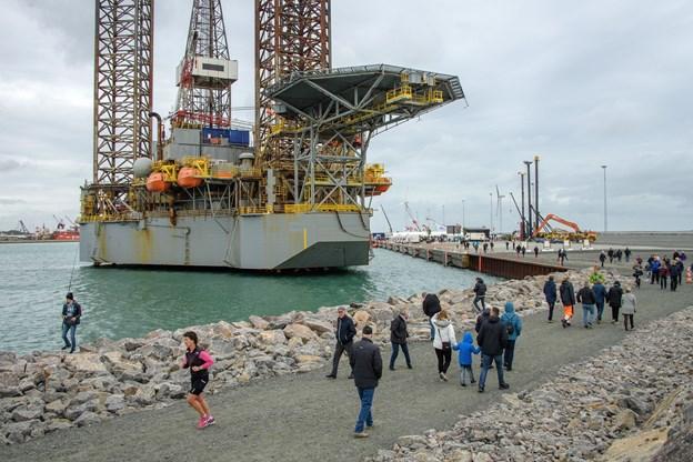 Mange tusinde gæstede det nye havneområde. Der er tale om 1. etape, men 2. etape er allerede godt i gang.
