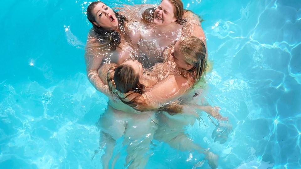 """De fire kvinder i """"Fat Front"""" har hver sin historie og baggrund. Foto: Marie Hald"""