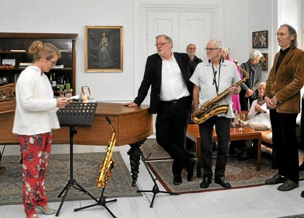 Malerier og jazz i skøn forening