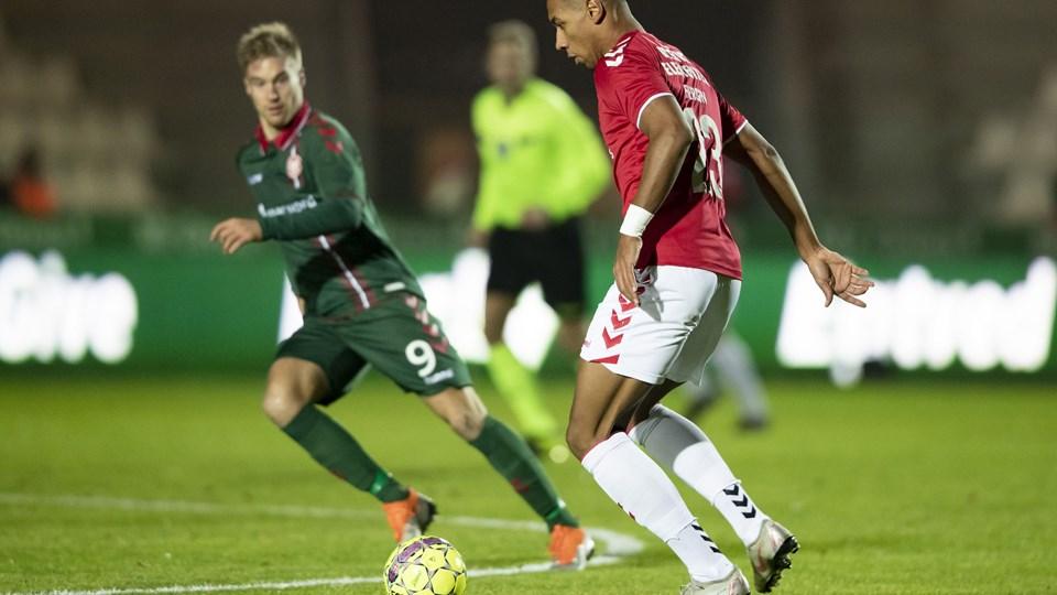 AaB's Tom van Weert (tv) scorede gæsternes mål i 1-1-kampen mod Vejle i Superligaen fredag aften.