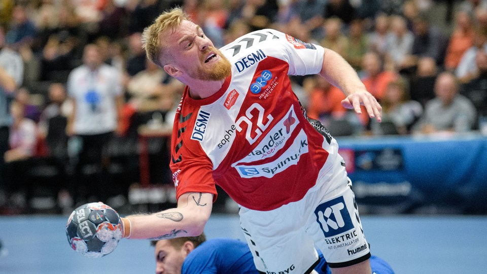 Aalborg Håndbold-anfører René Antonsen var tilbage på håndboldbanen mod Zagreb søndag. Foto: Bo Lehm