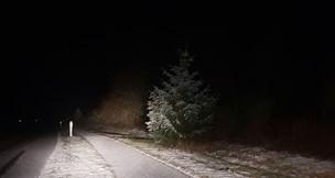 Kulden har ramt: De nordjyske veje er spejlglatte mandag morgen
