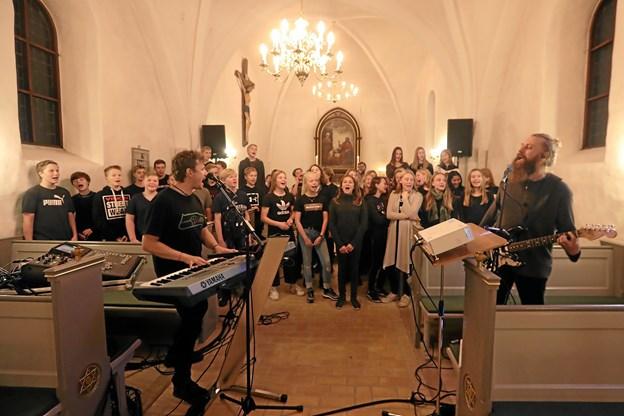 Dagen blev brugt på at forberede aftenens koncert. Foto: Allan Mortensen Allan Mortensen