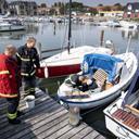 Eksplosion på båd: Yngre mand forbrændt på ben