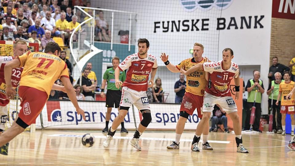 Martin Larsen spillede sin sidste kamp for Aalborg Håndbold i Gudme. Foto: Bent Bach