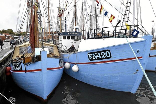 De blå fiskekuttere er også blevet bevaringsværdige. Hundredvis er forsvundet de seneste 20 år.Foto: Ole Iversen