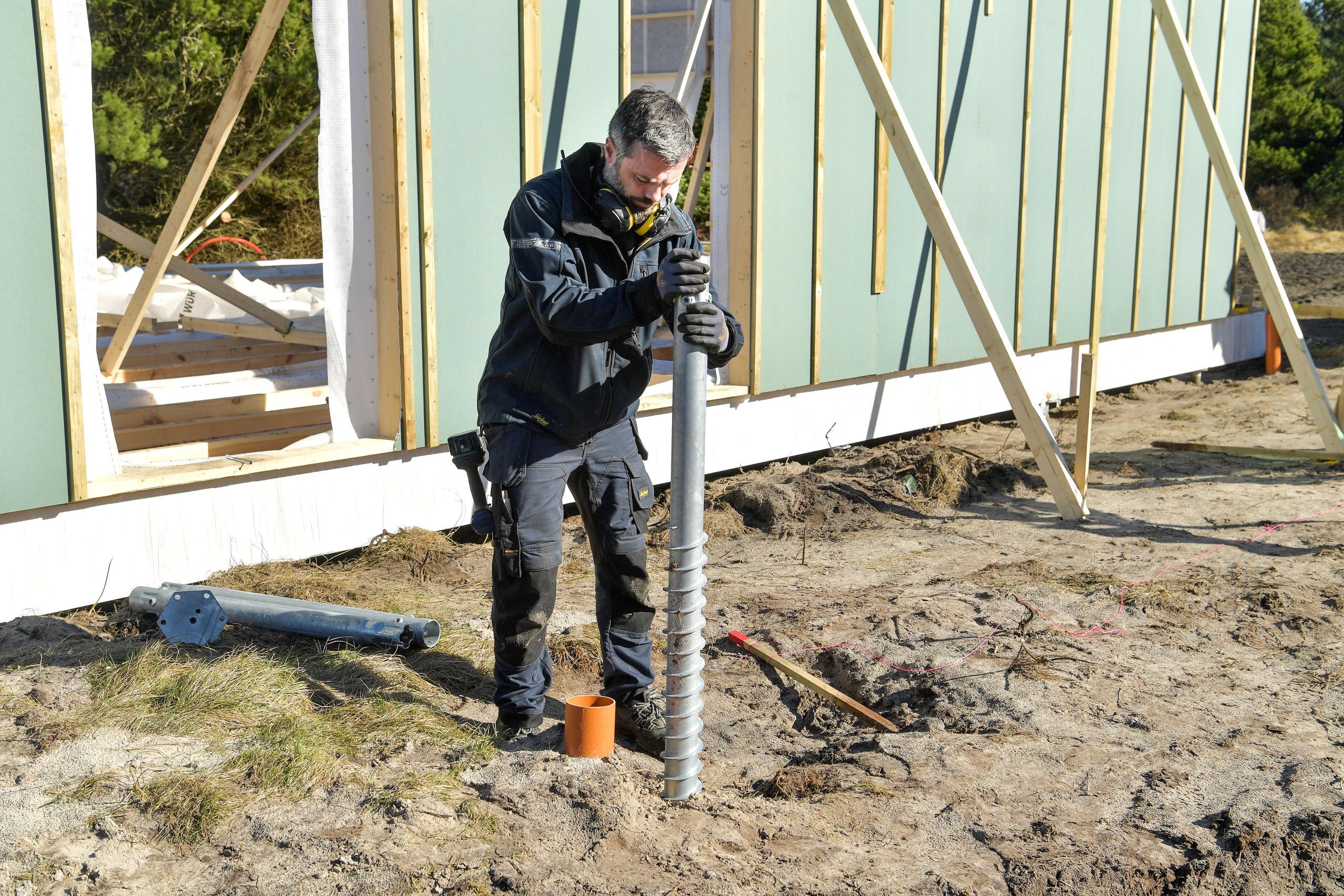 Genial idé: Derfor bygger de sommerhuse på skruer i Saltum