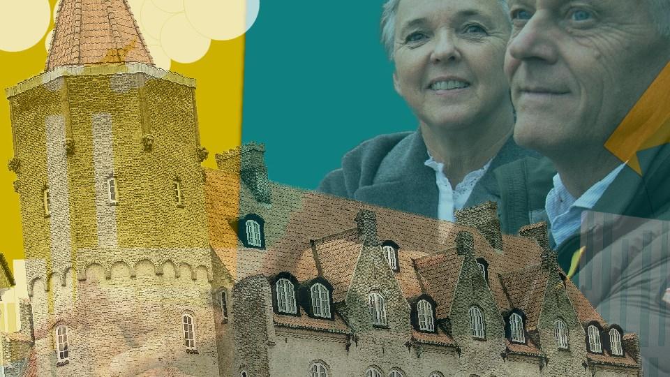 Lene og Kim Quist har lejet sig ind i en nyrenoveret taglejlighed i den tidligere Landmandsbanken. Illustration: Christian Made Hagelskjær
