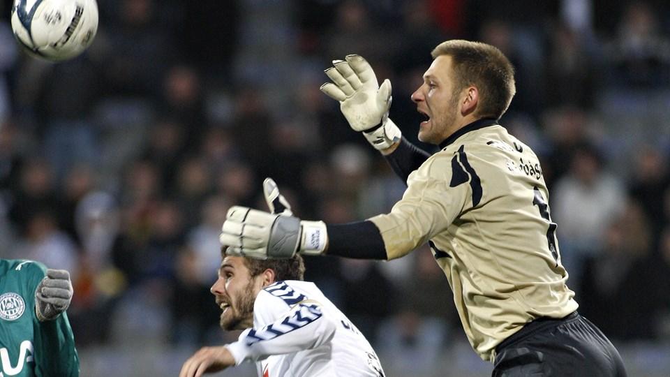 Den svenske målmand John Alvbåge spillede tre sæsoner i Viborg, men i 2018 har han spillet i Cypern, hvor en stor skandale er under opsejling. (Arkivfoto)