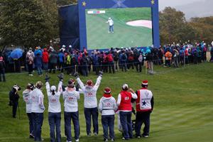 Amerikanske kvinder udligner mod Europa i golfdyst