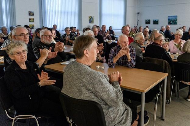 Næsten 100 tilhørere var mødt frem. Foto: Nicolas Cho Meier Nicolas Cho Meier