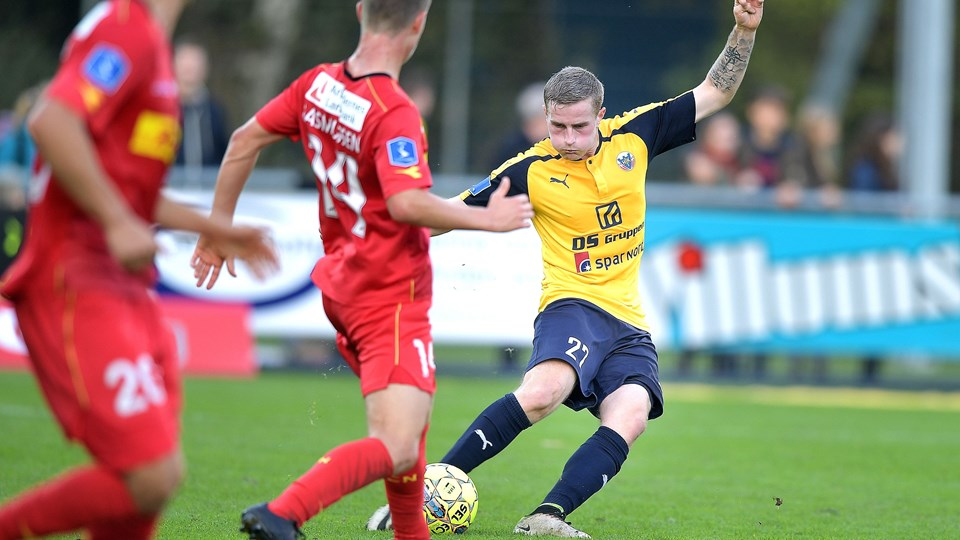 Ny kontrakt til Mathias Haarup. Foto: Torben Hansen