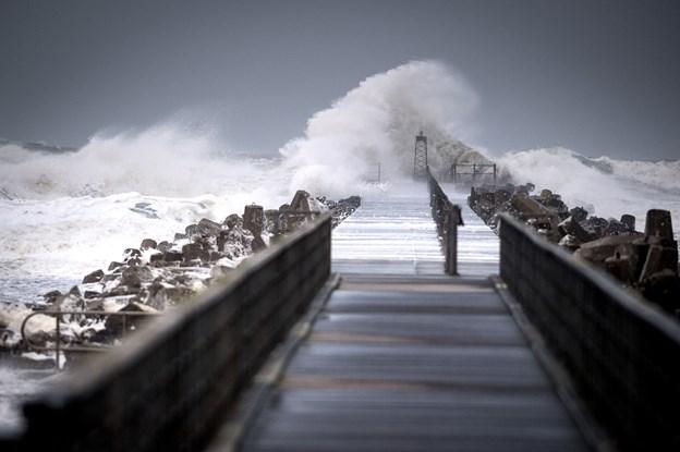 Nordjylland rammes af kraftig blæst fredag morgen, forventer DMI. Arkivfoto: Bo Lehm
