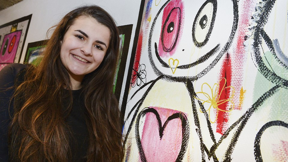 Sara Jelaca kunne fortælle den store nyhed for de flere hundrede fremmødte unge. Arkivfoto: Bent Bach