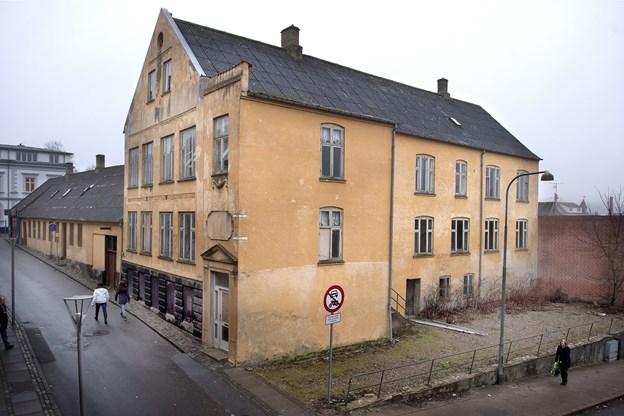 Ejendommen Skibsgade 1-3 og Adelgade 45 er i spil til en ny Føtex-butik. Arkivfoto: Torben Hansen