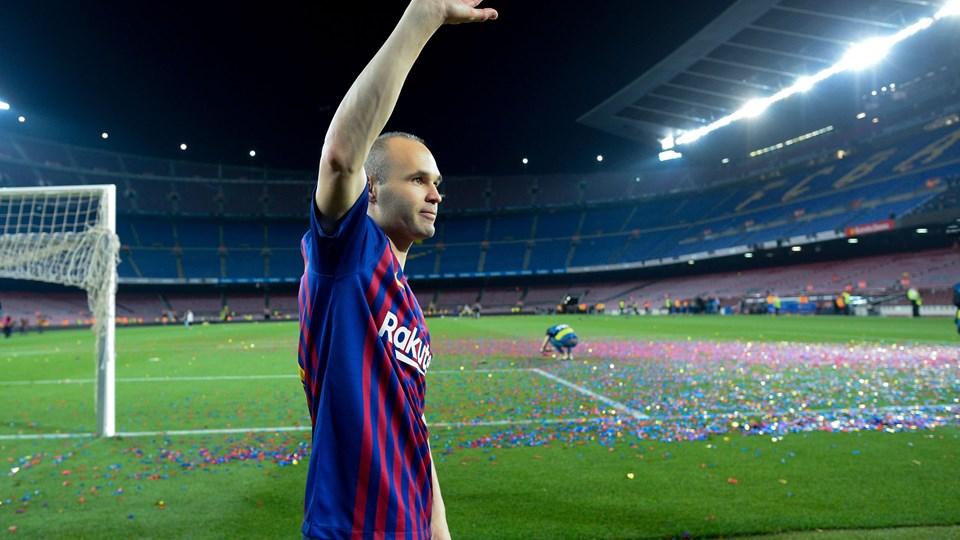 Barcelona-stjernen Andrés Iniesta har spillet sin sidste kamp for FC Barcelona. Foto: Scanpix/Josep Lago