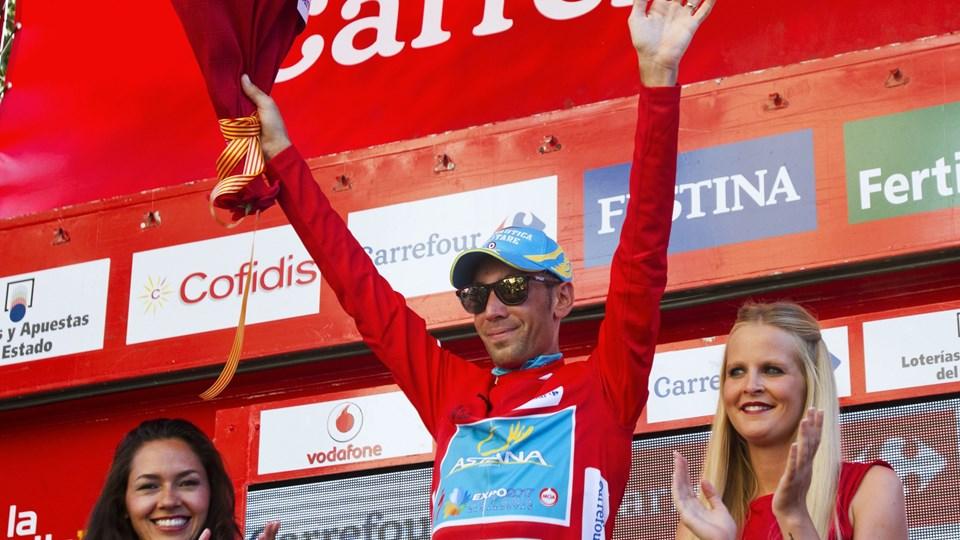 Vincenzo Nibali fører stadig i den samlede stilling. Foto: Scanpix
