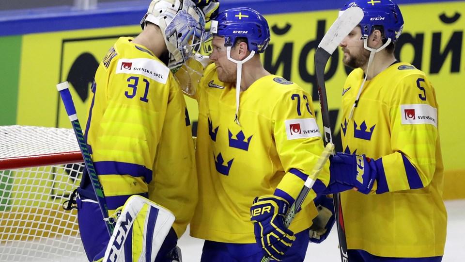 Sverige vandt lørdag 6-0 over USA i VM-semifinalen. Foto: Reuters/David W Cerny