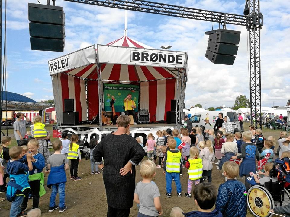 På Store Brønderslev Markeds 2018 sidste dag stod formiddagen i de mindste gæster tegn. Foto: Kristian Gull Pedersen