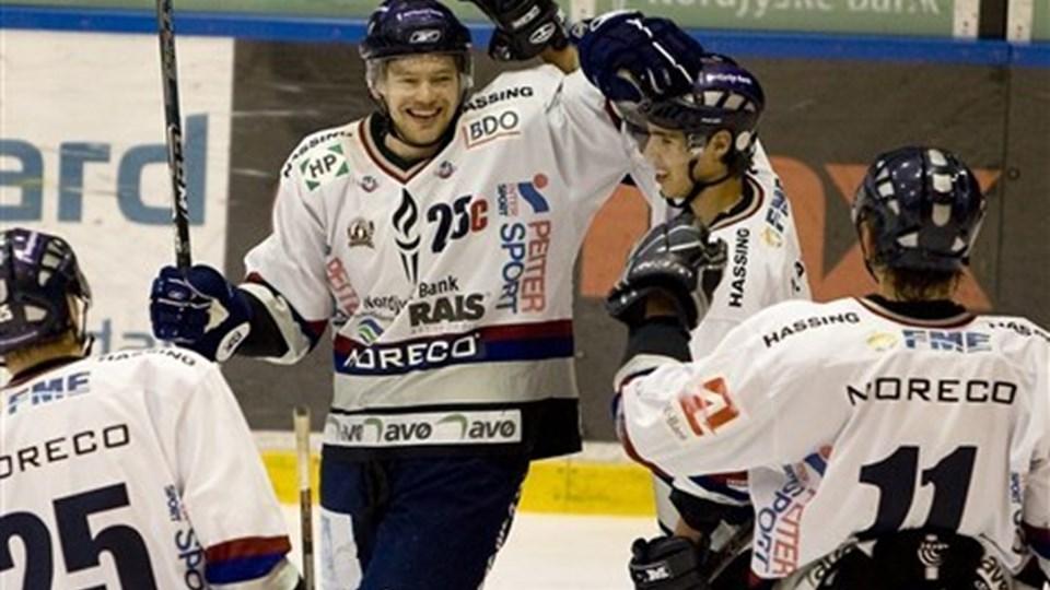 Mike Grey scorede en enkelt gang i Hvidovre, men ellers var der ikke meget at juble over. Foto: Carl Th. Poulsen.