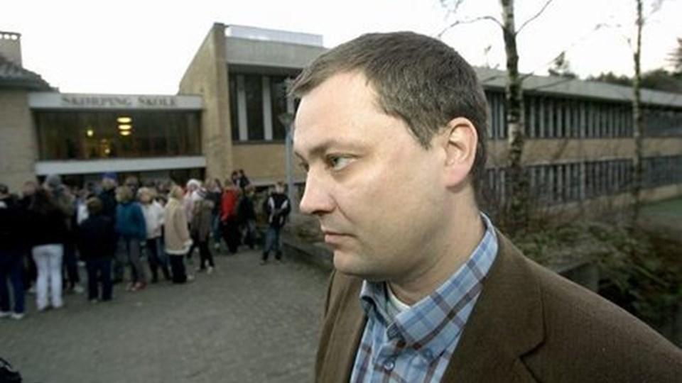 Lars Lerup håber, at torsdag og fredag kan være med til at bringe Skørping Skole tilbage til at være et godt og trygt sted at arbejde.arkivfoto: per kolind