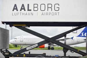 SAS-fly er sikkerhedslandet i Aalborg Lufthavn