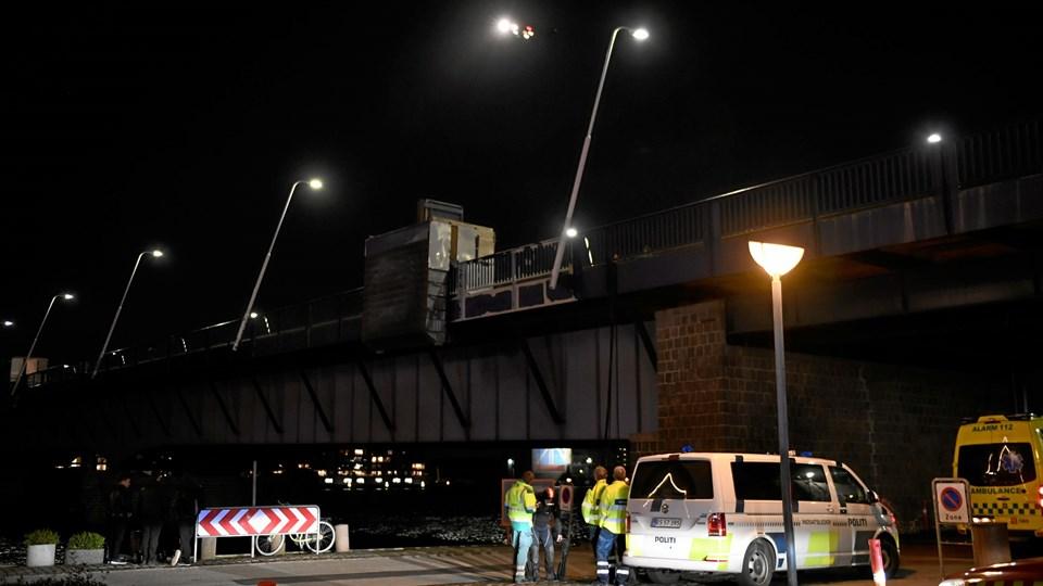 Eftersøgning i Aalborg fredag aften. Foto: Jan Pedersen