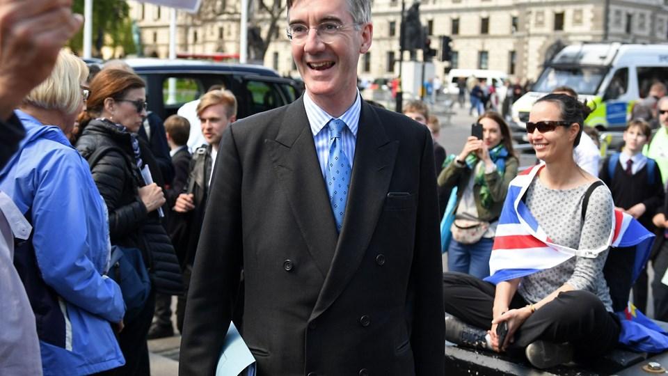 Jacob Rees-Mogg, der leder den EU-skeptiske fraktion i det konservative parti, dumper det seneste udkast til en skilsmisseaftale med EU.