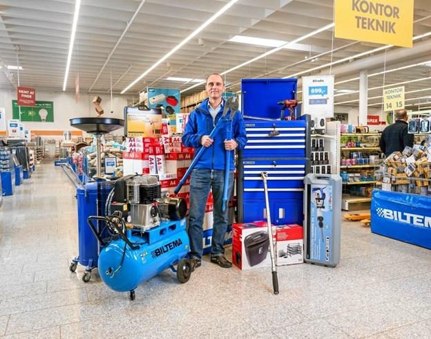 Bæredygtige lokaler, der indeholder 20.000 varenumre fordelt på 8 varegrupper - bil, båd, fritid, hjem, kontor/teknik, byggeri, bilpleje og værktøj - er på vej til Hjørring og opland. Pr-foto: Steen Knarberg