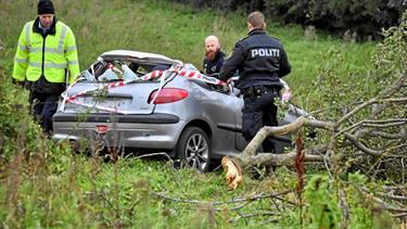 Soloulykke i Vrå: Bilist kommet alvorlig til skade