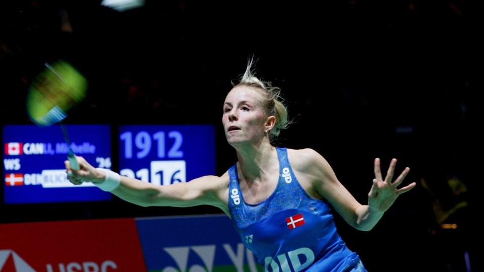 Mia Blichfeldt måtte se sig slået trods en god start på kvartfinalen. Foto: Scanpix/Sportxpress