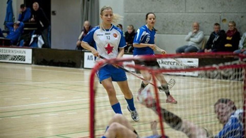 Annika Bengtsson leverede en flot assist til sejrsmålet i topkampen mod FS Århus. Foto: Hans Ravn