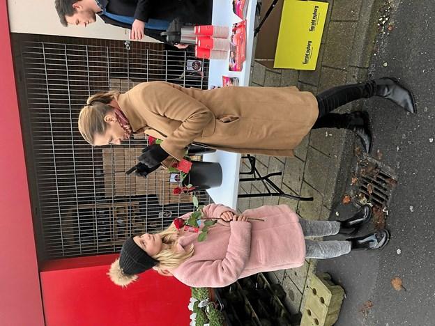 Mette Frederiksen var på stemmejagt i Gistrup forleden og det var et godt valg for der er mange, der stemmer på Socialdemokratiet i Gistrup. Foto: Karl Korfits