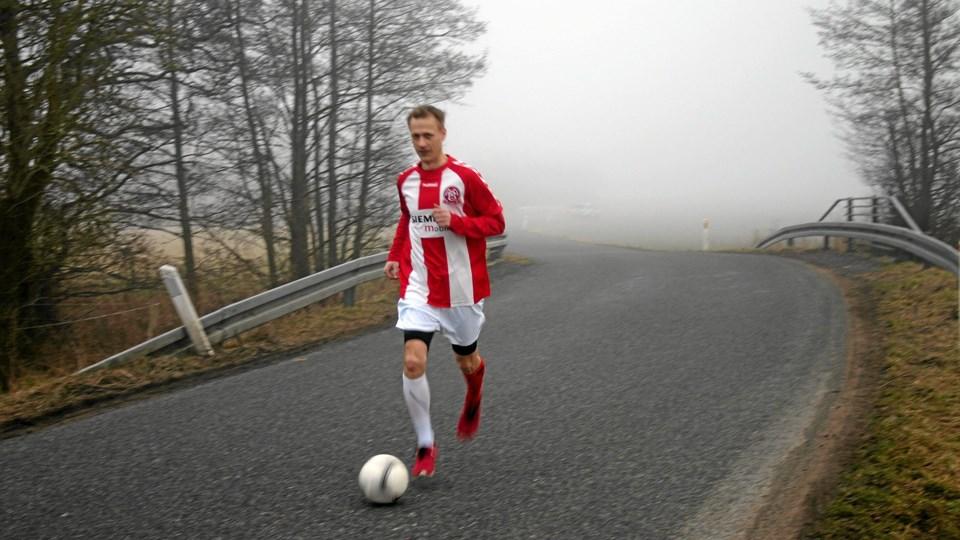 Jan La Caille er først begyndt at træne løb med bold for alvor indenfor de sidste uger. Privatfoto